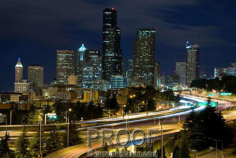 Seattle's 12th Avenue Bridge at Midnight