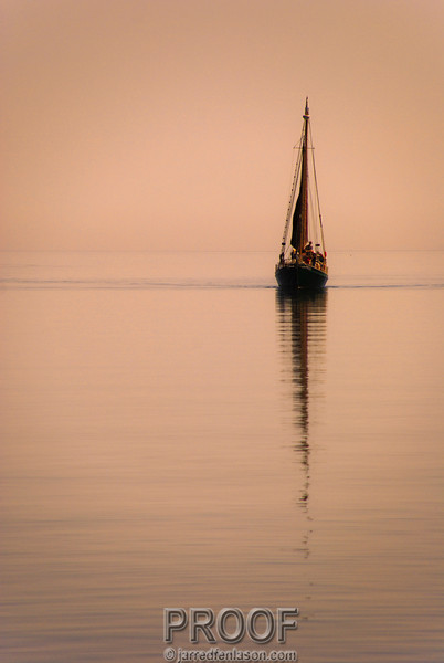 Sailing into the Sunset in Lake Superior