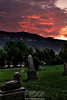 Sunset over the Cemetery - Ouray Colorado