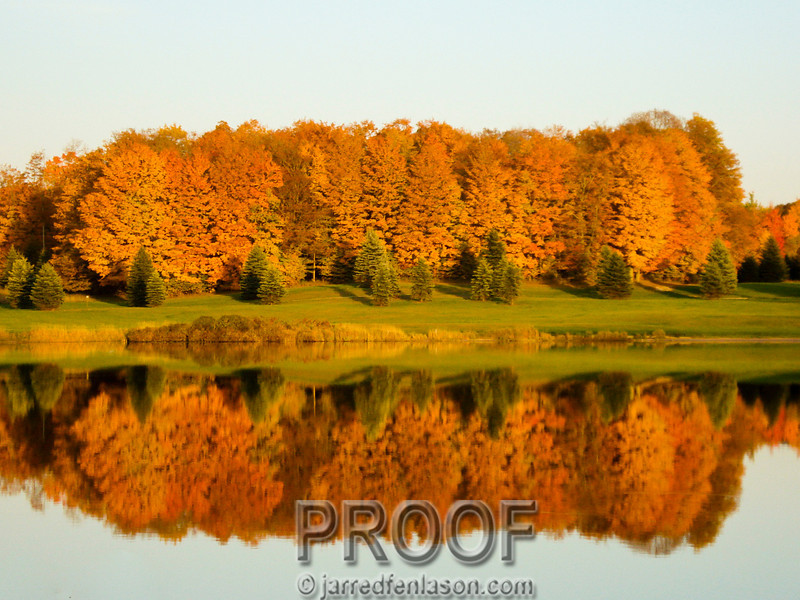 Fall on Oley Lake, Michigan