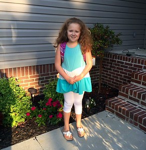 08-13-15 my little sweetie's first day of 3rd grade......
