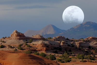 Supermoon Over the Moab Desert 2019