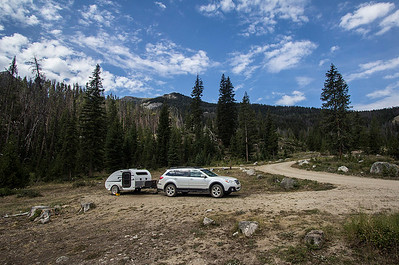 Lil' Further camped out in Wind River Range, WY.
