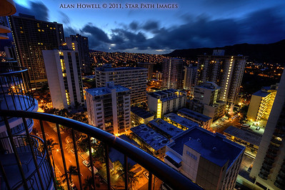 Downtown Waikiki at Sunrise.