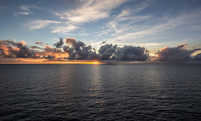 Enjoying a beautiful sunset over the Caribbean and wishing I could stay longer...
