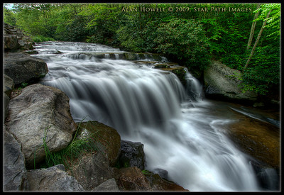New River Tributary, waterfalls.
