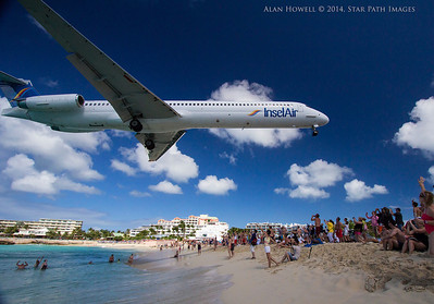 This looks like a good place to land captain...  St. Maarten, Virgin Islands. Mullet Beach.
