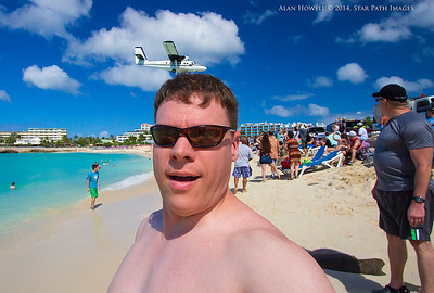 I hate it when I wake up with plane hair. Maho Beach, St. Maarten.