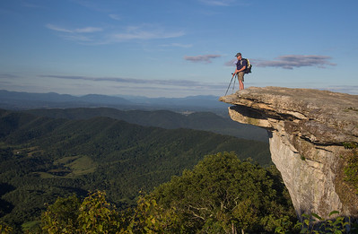 Alan standing on the edge of the McAfee Knob prow. The most photographed spot on the Appalachian Trail.
