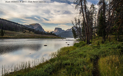 Early morning in the Wind River Range. Headwaters of the Green River in Wyoming.