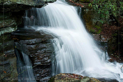 One of the many beautiful waterfalls of Hanging Rock Park in NC.