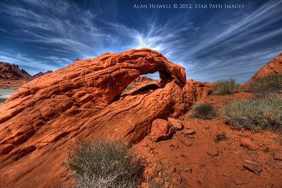One of the many beautiful arches in Nevada's 'Valley of Fire'.