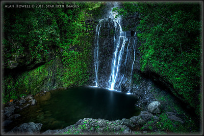 Maui, Hawaii. Hana Waterfall.