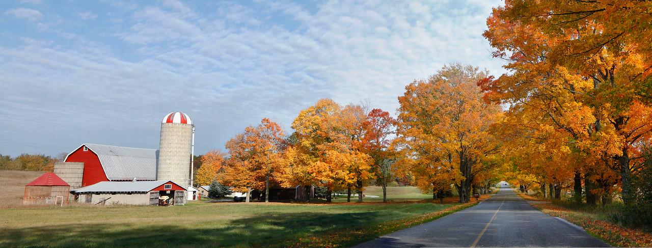Michigan farm with fall color