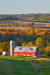Red Barn in early morning light