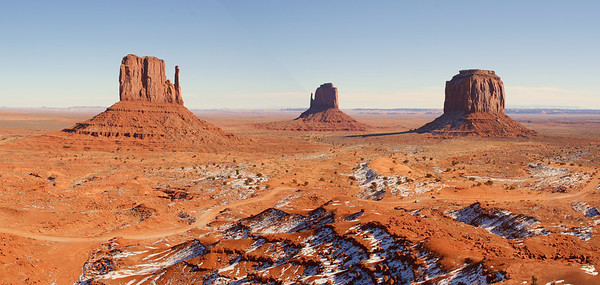 The famous mittens of Monument Valley. Throw in John Wayne and the picture is complete.