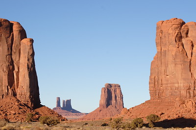 "The buttes in Monument Valley ironically provide an abstraction for the ""flatness"" of the floor from which they rise."