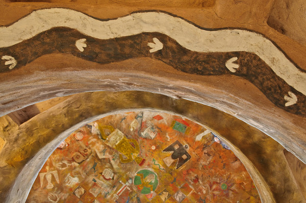 Native Indian arts in the Observation Tower, Grand Canyon, Desert View Point