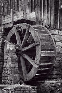 """Abandoned Grist Mill Wheel"""