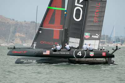 A puff hits and they heel and accelerate heading towards the top mark