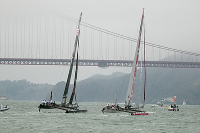 Oracle has consolidated their lead going upwind and gets ready to round the top mark