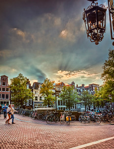 Amsterdam City Sunset