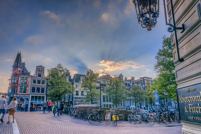Glowing Amsterdam Sunset