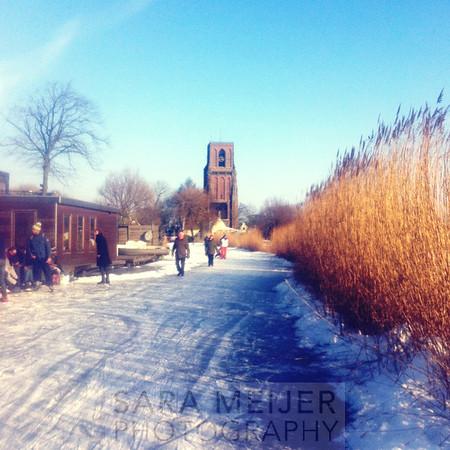 Amsterdam-Noord in Wintertime