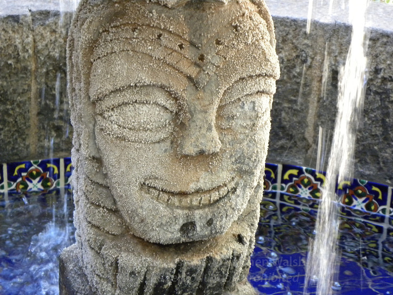 Happy face fountain
