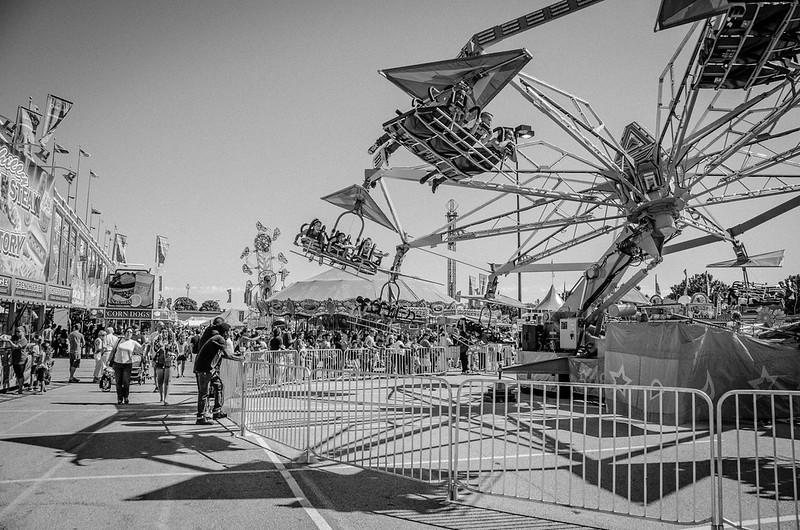 Taking Flight at the Fair (B&W)
