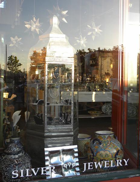 Silver shop window