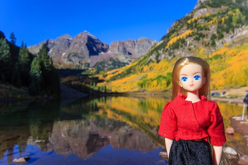 Maroon Lake and Maroon Bells, Aspen, Fall 2015