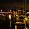Annapolis City Marina at night