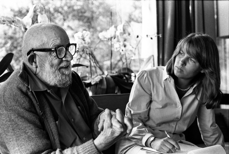 Ansel Adams and Allison Beezer in deep discussion.
