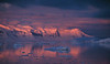 The most spectacular sunset observed in Antarctica