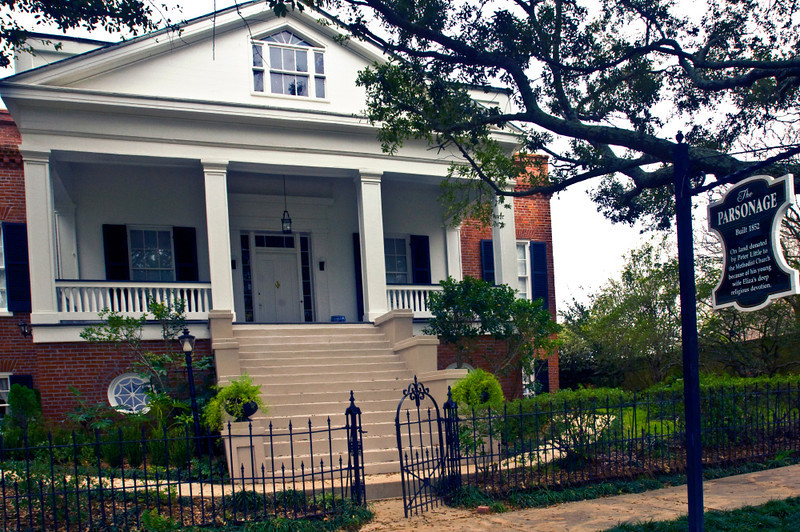 North America, USA, Mississippi, Natchez, The Parsonage, land on which built donated to Methodist Church by Peter Little, owner of Rosalie, because of his wife Eliza's religious dedication. ca. 1852