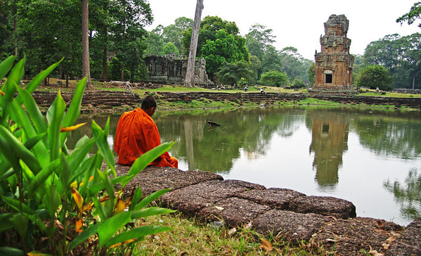 Angkor Wat evokes much reflection Siem Reap, Cambodia