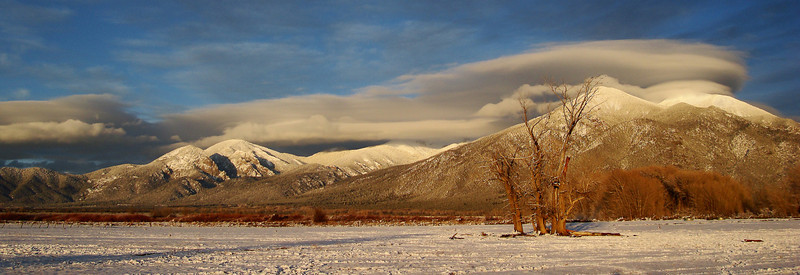 Taos, New Mexico. December Sunset