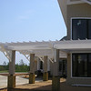 A second view of the Clubhouse PVC Trellis and brackets