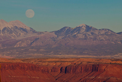 Moonrise over  Canyonlands