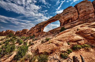 Skyline Arch, from the campground side in Arches National Park
