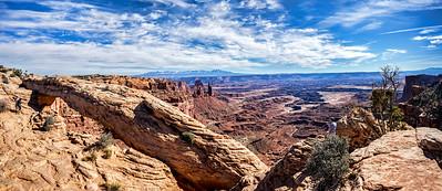 Mesa Arch and Canyon Pano