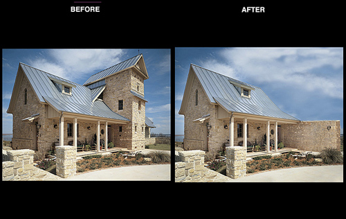 Timber Home Magazine<br /> Photo Reconstruction and Enhancement for Feature