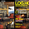 Log Home Design Ideas Magazine<br /> Photography Enhancement for Cover Image