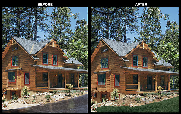Log Home Design Ideas Magazine<br /> Photography Enhancement for Feature Image