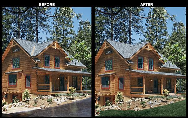 Log Home Design Ideas Magazine<br /> Photography Enhancement for Feature Image