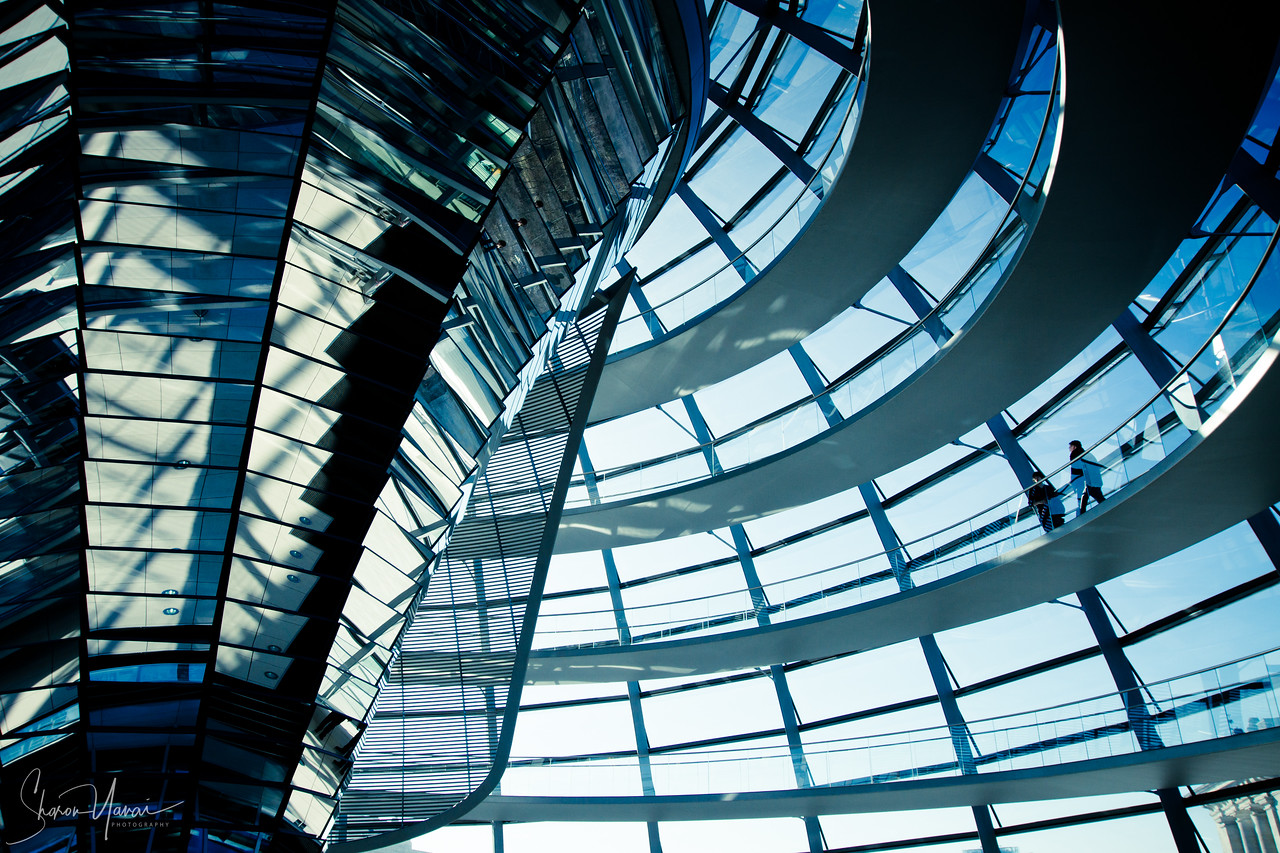 Transparent Dome on top of the Reichstag Building