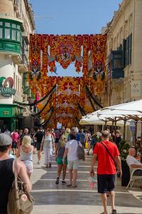 The streets of Valletta, Malta