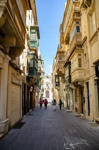 A quiet street in Valletta
