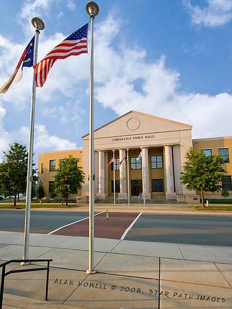 Cornelius Town Hall near Lake Norma in NC. -  http://www.cornelius.org/